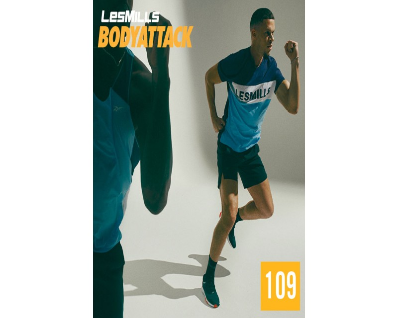 [Hot Sale]LesMills BODY ATTACK 109 New Release 109 DVD, CD & Notes