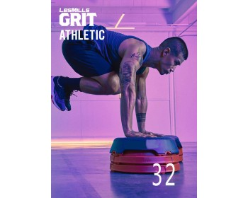 [Hot Sale]Les Mills GRIT ATHLETIC 32 New Release AT32 DVD, CD & Notes
