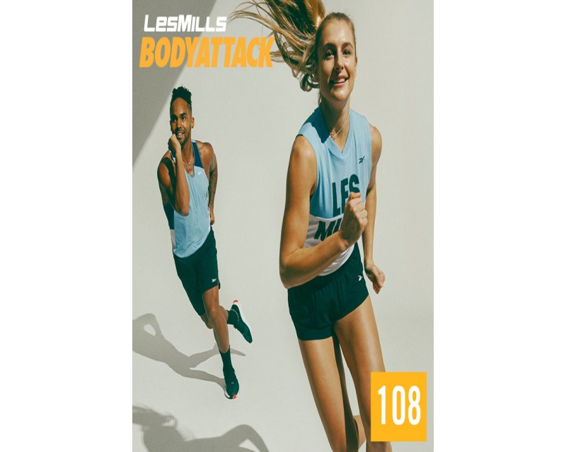 [Hot Sale]LesMills BODY ATTACK 108 New Release 108 DVD, CD & Notes