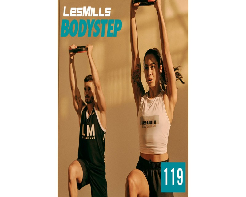[Hot Sale]LesMills Routines BODY STEP 119 New Release BS119 DVD, CD & Notes