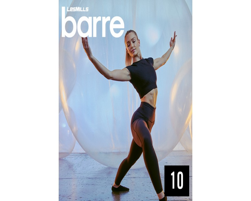 [Hot sale]Les Mills Routines Barre 10 New Release 10 DVD, CD & Notes