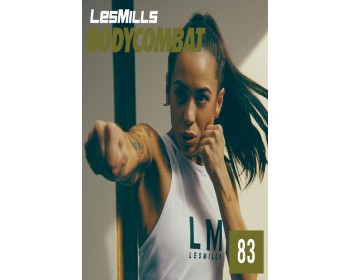 [Hot Sale]Les Mills BODY COMBAT 83 New Release BC83 DVD, CD & Notes