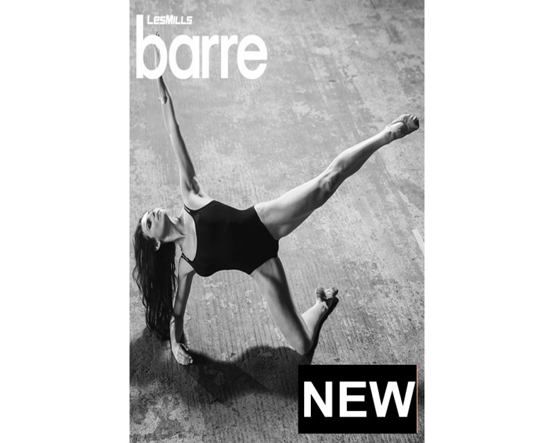 [Pre sale]Les Mills Routines Barre 10 New Release 10 DVD, CD & Notes