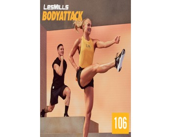 [Hot Sale]2019 Q3 LesMills Routines BODY ATTACK 106 DVD + CD + NOTES