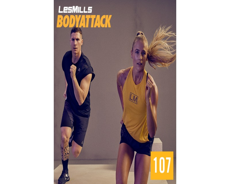 [Hot Sale]LesMills BODY ATTACK 107 New Release 107 DVD, CD & Notes