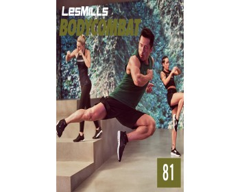 [Hot sale]2019 Q3 LesMills Routines BODY COMBAT 81 DVD + CD + NOTES