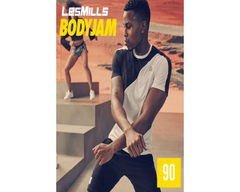 [Hot Sale] 2019 Q3 LesMills Routines BODY JAM 90 DVD + CD + waveform graph