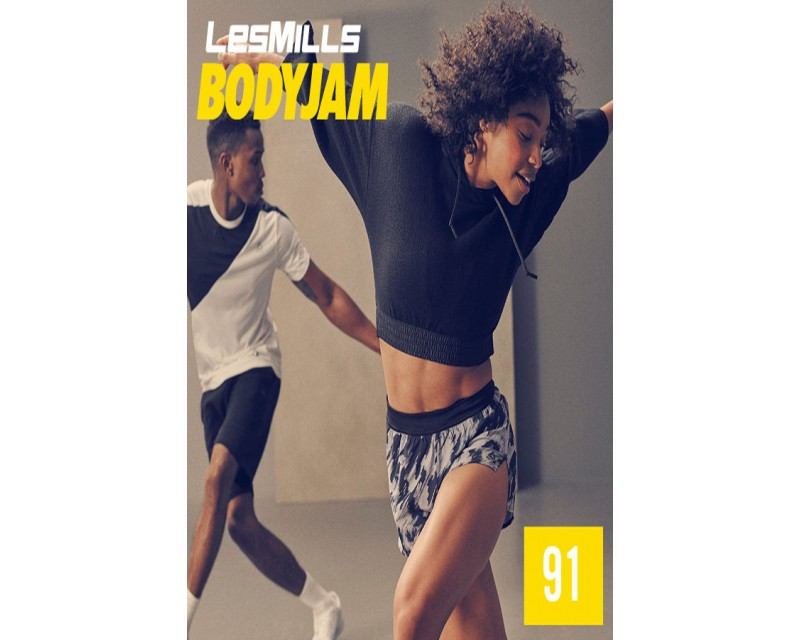 [Hot Sale] Les Mills Body Jam 91 New Release BJ91 DVD, CD & Note