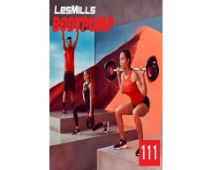 [Hot Sale] 2019 Q3 LesMills Routines BODY PUMP 111 DVD + CD + Notes