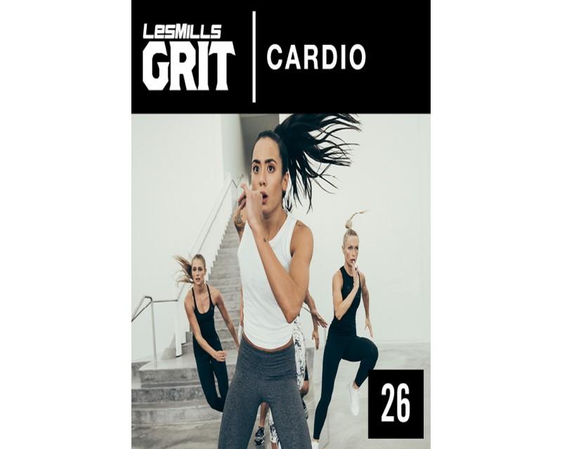 [Hot Sale]2018 Q3 Routines GRIT Cardio 26 DVD+CD + waveform graph