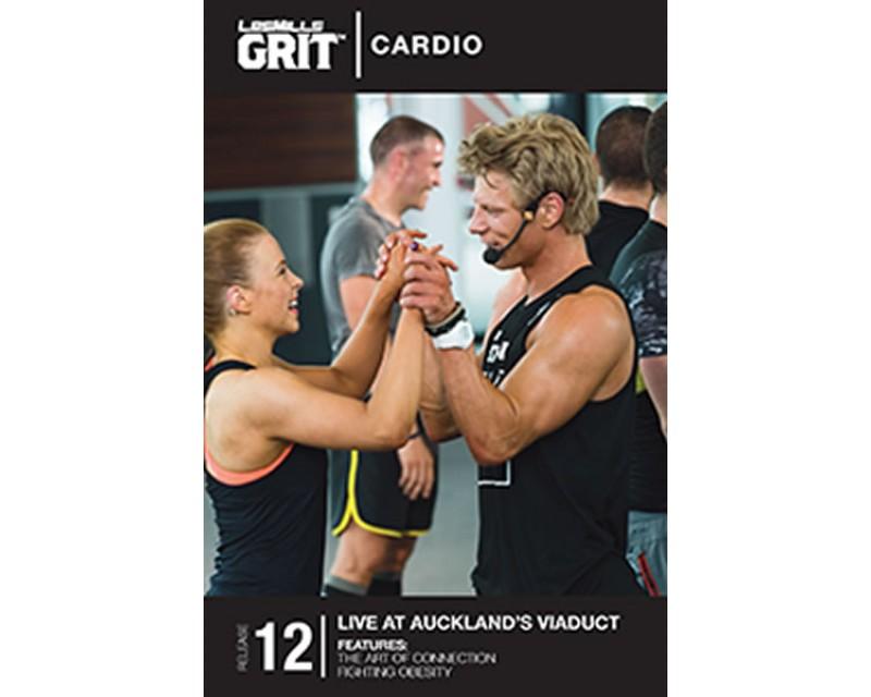 GRIT Cardio 12 DVD+CD + waveform graph