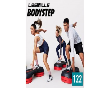 [Hot Sale]LesMills Q1 2021 Routines BODY STEP 122 releases New Release DVD, CD & Notes