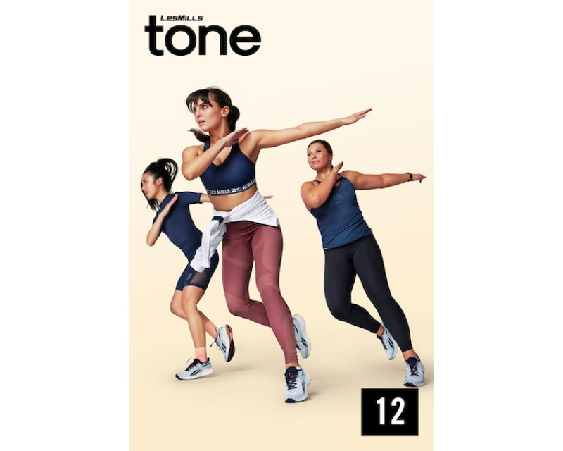 [Hot Sale]LesMills Q1 2021 TONE 12 releases New Release DVD, CD & Notes