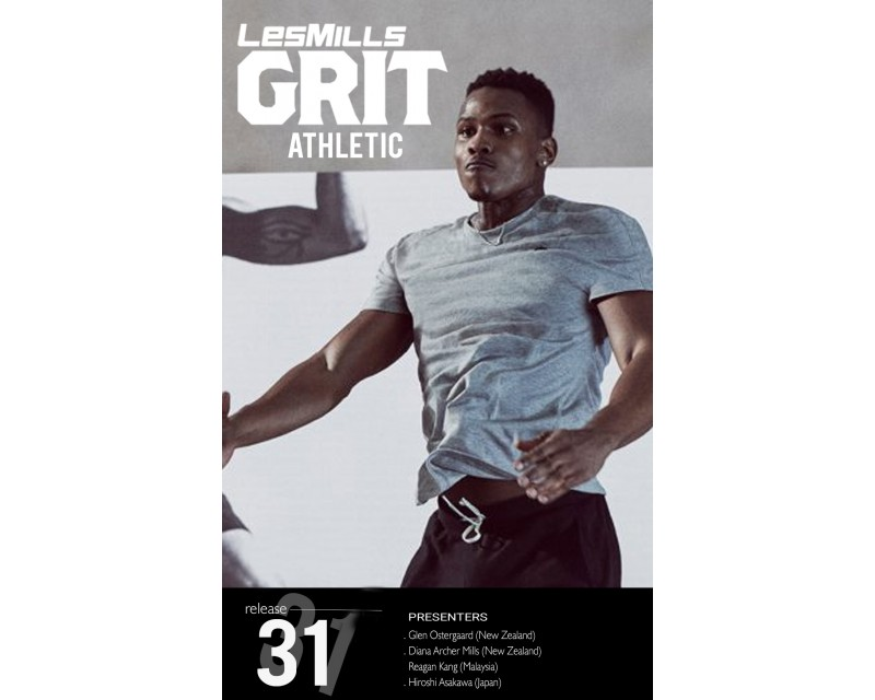 Les Mills GRIT ATHLETIC 31 New Release AT31 DVD, CD & Note