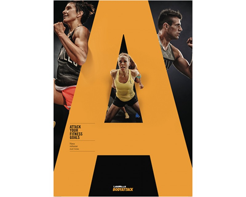 [Pre Sale]2019 Q4 LesMills Routines BODY ATTACK 107 DVD + CD + waveform grap