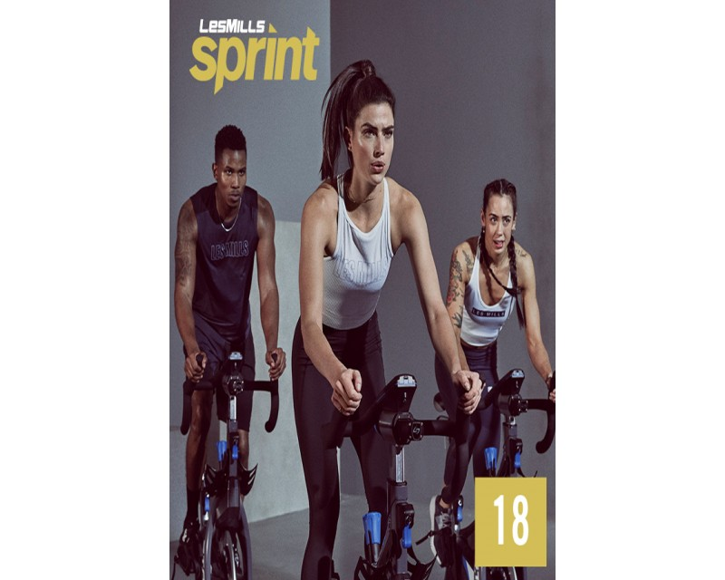 [Hot Sale]Les Mills Routines SPRINT 18 New Release 18 DVD, CD & Notes