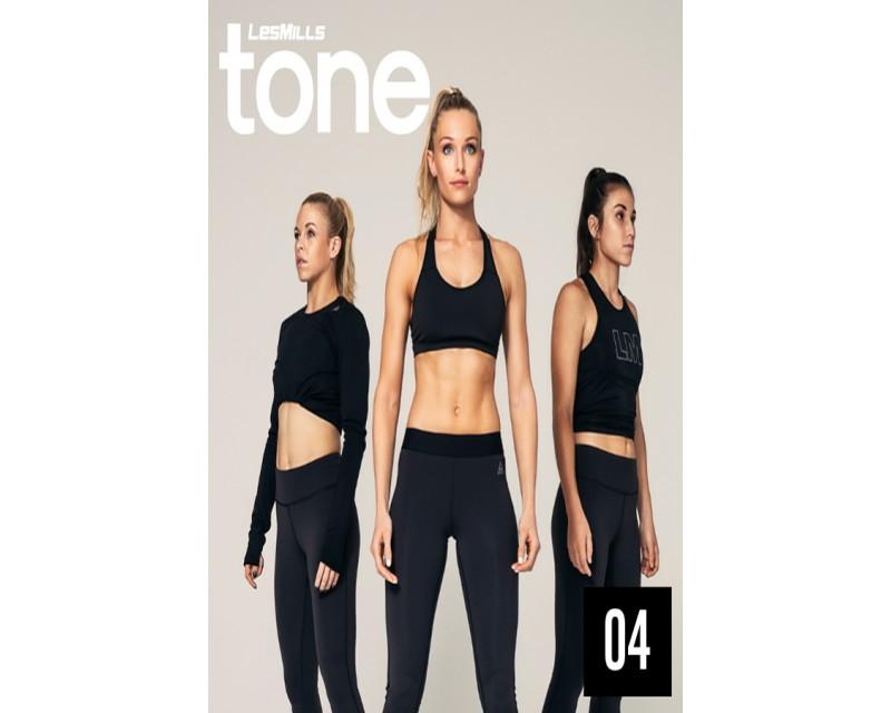 2018 Q4 LESMILLS TONE 04 DVD + CD + waveform graph