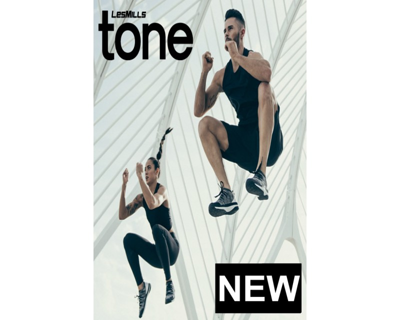 2019 Q2 LESMILLS TONE 06 DVD + CD + waveform graph