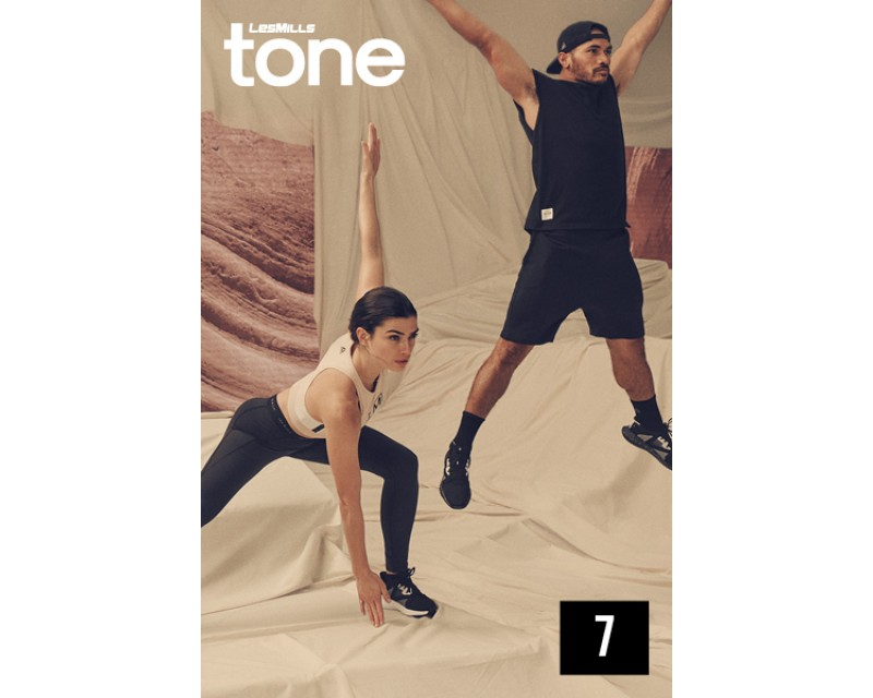 [Hot Sale] 2019 Q3 LESMILLS TONE 07 DVD + CD + waveform graph