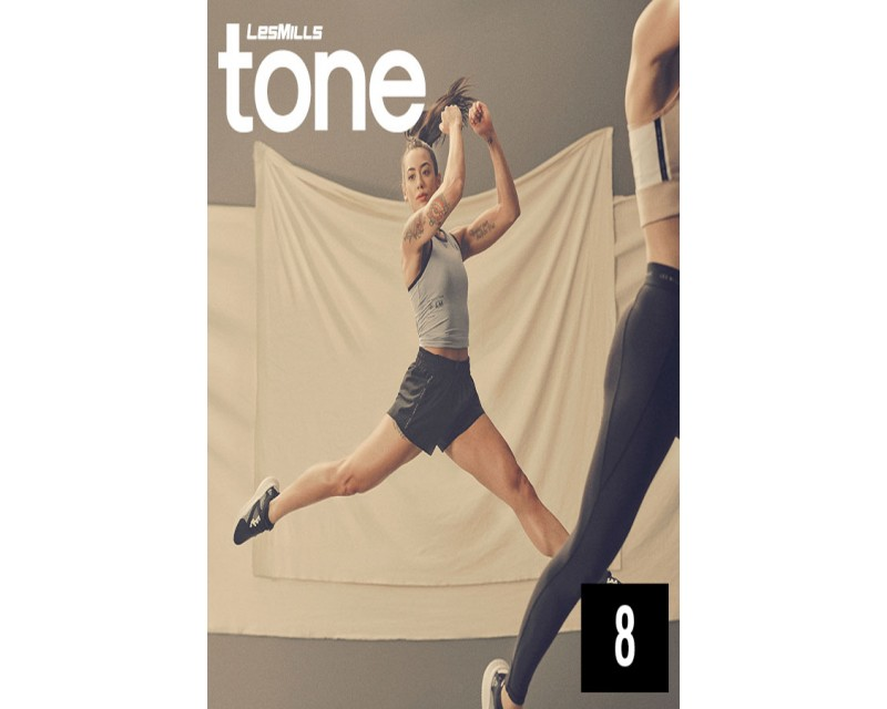[Hot Sale]LesMills TONE 08 New Release 08 DVD, CD & Notes