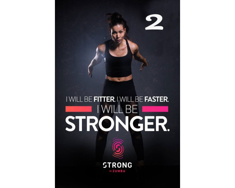 [Hot Sale] 2018 New Course Strong By Zumba Vol.02 HD DVD+CD