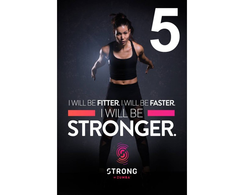 [Hot Sale] 2018 New Course Strong By Zumba Vol.05 HD DVD+CD
